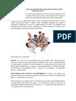 La Estructura de Los Grupos de Trabajo Investigación Participativa