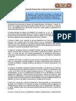 Política Nacional de Prevención y Atención de Desastres en Huánuco