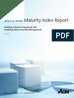 Aon Risk Maturity Index Report 041813