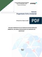 Artigo - Análise Comparativa de Técnicas de Recuperação Ambiental Em Áreas Degradadas No Município de Bofete - Sp