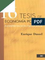 16 Tesis de Economía Política - E. Dussel