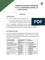 Reglamento General de Elecciones Para Centro Federado
