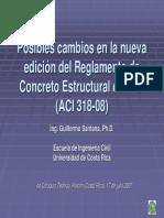 CAMBIOS REGLAMENTO CONCRETO ESTRUCTURAL ACI3018--05