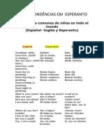 Correspondencias Em Esperanto