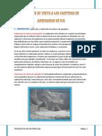 Informe - Visita Cantera