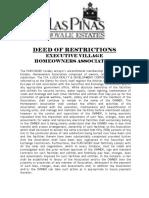 LAPREHAI - Deed of Restrictions