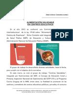 Alimentacion Saludable en Centros Educativos Noticia 2018-04-05