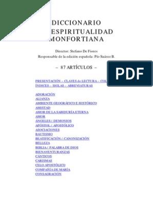Diccionarioespiritualidad Mofortiana María Madre De