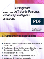 Peritaje Psicológico en Víctimas de Trata de Personas
