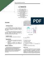 informe termistor