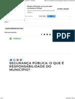 Segurança Pública_ o Que é Responsabilidade Do Município_ - Politize!