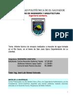 Informe Tecnico de Rio Sucio San Juan Opico