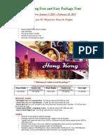 Hongkong Package Tours 2015 Updated