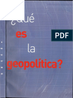 Que Es La Geopolitica
