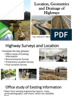 7.0 Highway Surveys Geometrics and Drainage