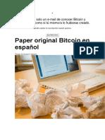 Paper original Bitcoin en español