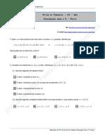 Ficha de Trabalho - 10.º Ano - Preparação Para o 5.º Teste