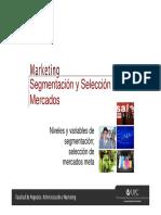 AM75 - Marketing - Clase 05 - Segmentación y Selección de Mercados - Aula Virtual