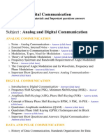 Analog and Digital Communication - Lecture Notes, Study Materials and Important questions answers