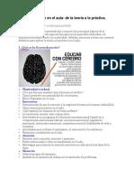 Neuroeducación en El Aula