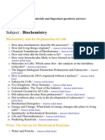 Biochemistry - Lecture Notes, Study Materials and Important questions answers