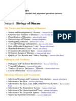 Biology of Disease - Lecture Notes, Study Materials and Important questions answers