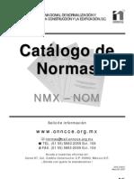 CATÁLOGO DE NORMAS NMX