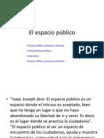 Espacios publicos- 2018