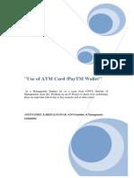 Atm-PayTm Final Report