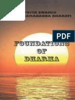 Foundations of Dharma Swami Paramananda Bharati