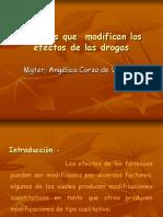 5. Factores Que Modifican Los Efectos de La Droga