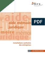 Installations Sanitaires Des Entreprises - r46-Guides-Inrs