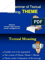 The Grammar of Textual Meaning