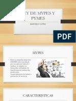 Ley de Mypes y Pymes