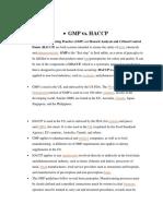 Haccp vs Gmp
