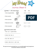 Way Ahead Practice Sheet 6