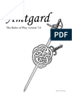 Amtgard Rulebook, 7th Edition, 6th Revision
