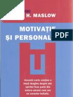 Motivatie Si Personal It Ate a H Maslow