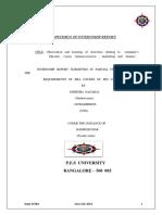Specimen of Internship Report