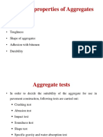 Aggregates and bitumen tests