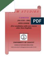 Open Course SDE VSem Flim Studies