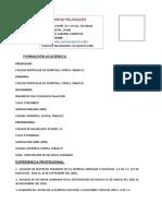 Curriculum Vitae Prepa