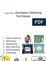Conflict Information Gathering Techniques