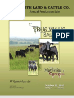Smith Land & Cattle Annual Production Sale Catalog 2010