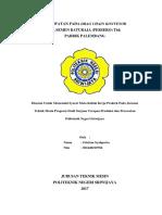 laporan drag chain conveyor