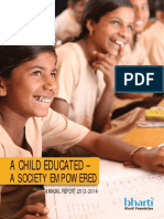 A CHILD EDUCATED SOCIETY IS EMPOWERED BY BHARTI FOUNDATION