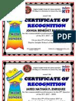 Garde IV Honors