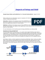 Equations and Impacts of Setup and Hold Time
