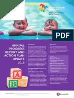 Municipal Early Years Plan 2018 Annual Progress Report 16 May 2018