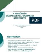 Rendőrség Gazdálkodása, Gazdasági Szervezete Nappai 1.Évf.